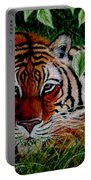 Tiger In Jungle Portable Battery Charger