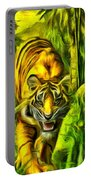 Tiger In The Forest Portable Battery Charger