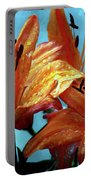Tiger Lilies After The Rain - Painted Portable Battery Charger