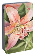 Tiger Lily Watercolor By Irina Sztukowski Portable Battery Charger
