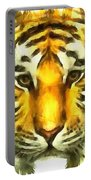 Tiger Painted Portable Battery Charger