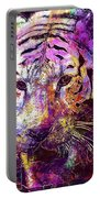 Tiger Surreal Painting Predator  Portable Battery Charger