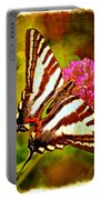 Zebra Swallowtail Butterfly - Digital Paint 3 Portable Battery Charger
