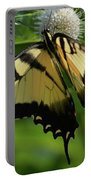 Tiger Swallowtail On Button Bush Portable Battery Charger