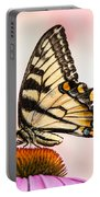 Tiger Swallowtail On Coneflower Portable Battery Charger
