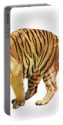 Tiger White Background Portable Battery Charger