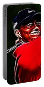 Tiger Woods Portable Battery Charger by Paul Ward