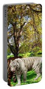Tigers By The City Portable Battery Charger