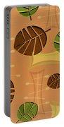 Tiki Lounge Wallpaper Pattern Portable Battery Charger