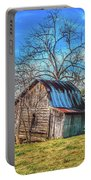 Tilted Log Cabin Portable Battery Charger