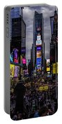 Times Square From The Steps Portable Battery Charger