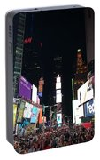 Times Square On A Tuesday. Portable Battery Charger
