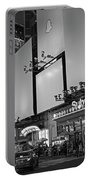 Times Square Subway Stop At Night New York Ny Black And White Portable Battery Charger