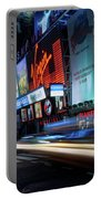 Times Square With Light Trail Portable Battery Charger