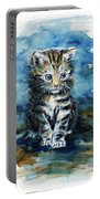 Timid Kitten Portable Battery Charger