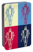 Tin Man Pop Art Poster Portable Battery Charger