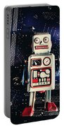 Tin Toy Robots Portable Battery Charger
