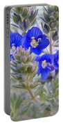 Tiny Blue Floral Portable Battery Charger