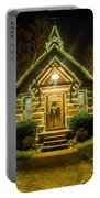 Tiny Chapel With Lighting At Night Portable Battery Charger