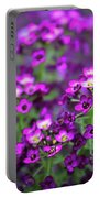 Tiny Purple Flowers Portable Battery Charger