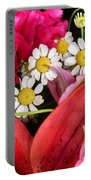 Tiny White Flowers Portable Battery Charger