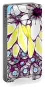 Tired Turtle With Bananas And Blooms Portable Battery Charger