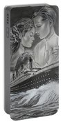 Titanic Drawing With Kate And Leonardo Portable Battery Charger