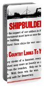 To Shipbuilders - Our Country Looks To You  Portable Battery Charger