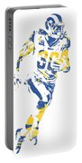 Todd Gurley Los Angeles Rams Pixel Art 30 Portable Battery Charger