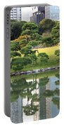 Tokyo Trees Reflection Portable Battery Charger by Carol Groenen