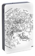 Tolkien Style Map Of Snowflakes Portable Battery Charger
