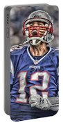 Tom Brady Art 5 Portable Battery Charger