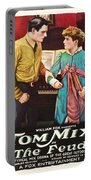 Tom Mix In The Feud 1919 Portable Battery Charger