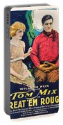 Tom Mix In Treat'em Rough 1919 Portable Battery Charger