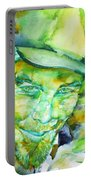 Tom Waits - Watercolor Portrait.5 Portable Battery Charger
