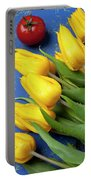 Tomato And Tulips Portable Battery Charger