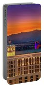 Top Of The Bellagio After Sunset Portable Battery Charger