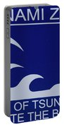 Topsail Island's Tsunami Zone Sign Portable Battery Charger