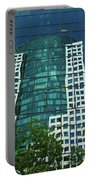 Toronto Metro Hall Reflected In The Cbc Building Portable Battery Charger