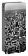Toronto Ontario Scrapers In Black And White Portable Battery Charger