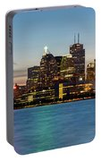 Toronto Skyline At Dusk Panoramic Portable Battery Charger