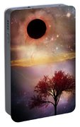 Total Eclipse Of The Sun Tree Art Portable Battery Charger