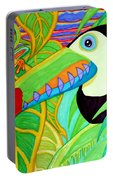 Toucan And Red Eyed Tree Frog Portable Battery Charger