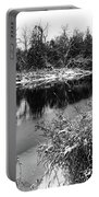 Touch Of Winter Black And White Portable Battery Charger