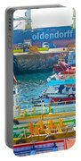 Tour Boats In Port Of Valparaiso-chile Portable Battery Charger