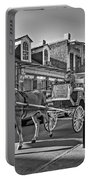 Touring The French Quarter Monochrome Portable Battery Charger