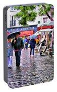 Tourists - Paris - Place Du Tertre Portable Battery Charger