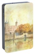 Tower Of London Watercolor Portable Battery Charger