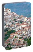 Town Clinging To A Hill Top In Southern Italy Portable Battery Charger