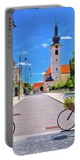 Town Of Bicycles Koprivnica Street View Portable Battery Charger